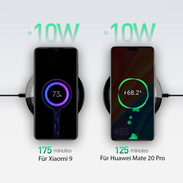 Wireless Charging Pad mit Fast-Charge und Qi-Technologie