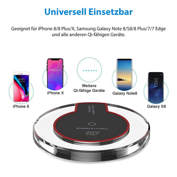 Qi Powerbank - Samsung und iPhone kompatibel