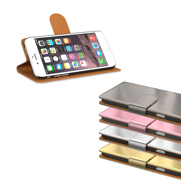 Flip-Case im Metallic-Look für Iphones