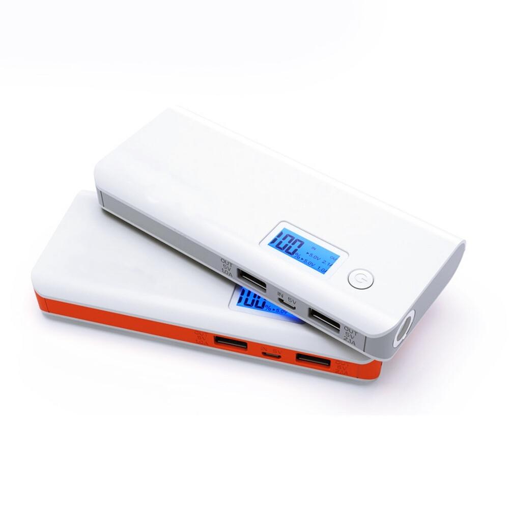kleine powerbank mit taschenlampe digitalanzeige und dual usb 16 95
