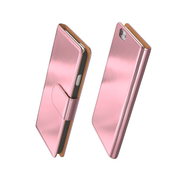 Flip-Case im Metallic-Look für Iphones 6, 6s Roségold