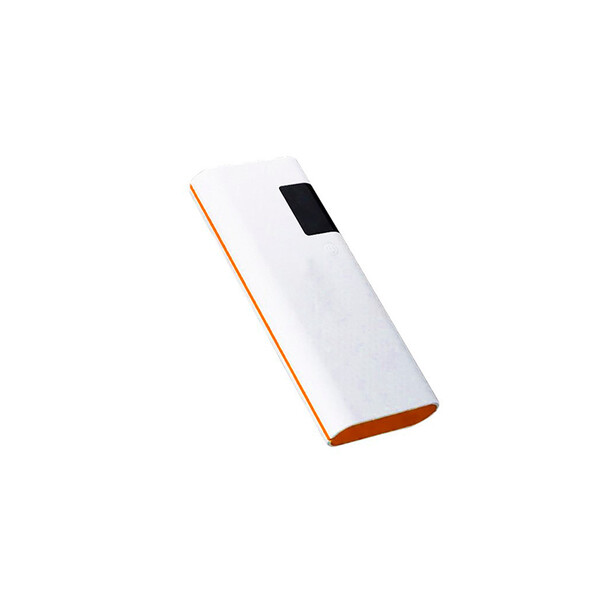 15000 mAh Power Bank in Weiß/Orange mit 1m Micro USB Kabel