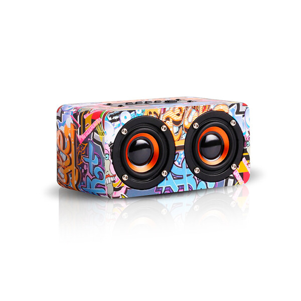 Bluetooth Speaker im Graffiti Design Graffiti Urban mit 32GB Micro SD Karte
