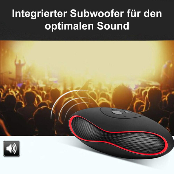 Bluetooth Lautsprecher in Football-Form in Schwarz/Blau