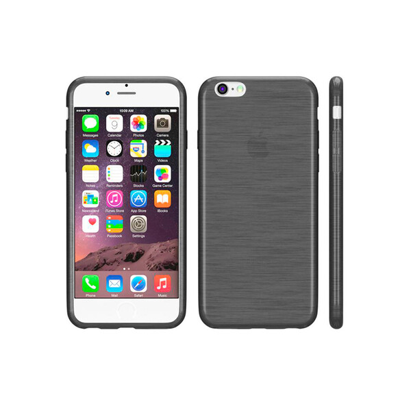 Silikon-Case iPhone im Blurred-Design Schwarz 7 Plus, 8 Plus