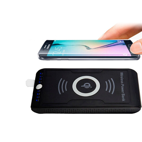 10000 mAh Wireless Charger Weiß mit 1m Lightning Kabel