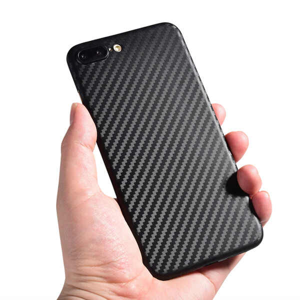 Handyhülle im Carbon Look iPhone Schwarz 7 Plus/ 8 Plus