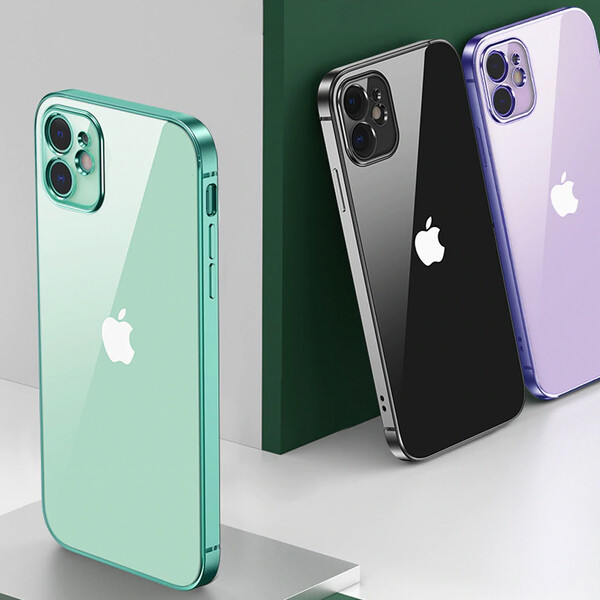 Transparente Hülle für iPhone Modelle Lila iPhone 7 Plus, 8 Plus