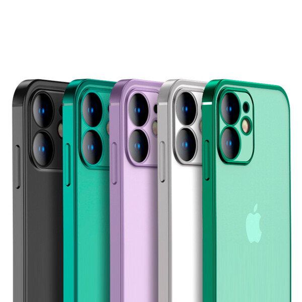Transparente Hülle für iPhone Modelle Hellgrün iPhone 11